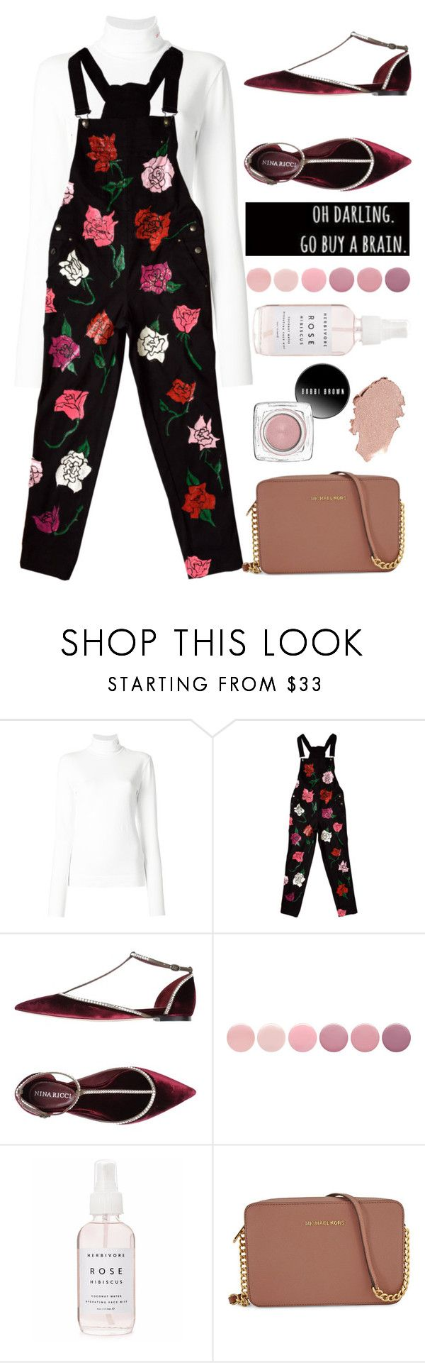 """""""rose me up"""" by lseed87 ❤ liked on Polyvore featuring Calvin Klein 205W39NYC, Nina Ricci, Deborah Lippmann, Holly's House and Michael Kors"""