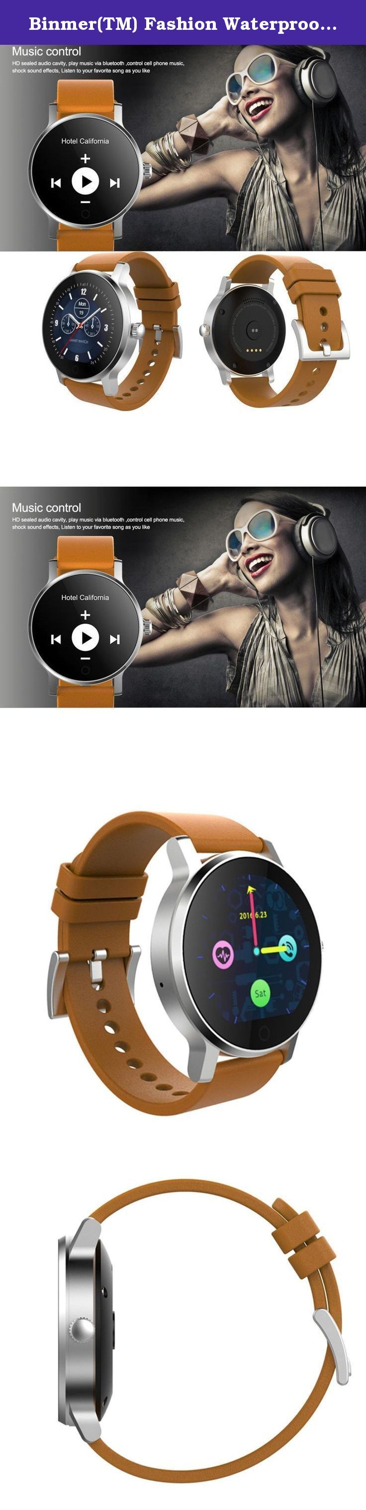 Binmer(TM) Fashion Waterproof Bluetooth Smart Wrist Watch For iphone (Brown). Feature: Bluetooth version: BT4.0LE RAM and ROM: 128MB + 64MB Memory card expansion (support what card / maximum extended memory): None And the degree of wear waterproof: can engage in activities (Wash hands, bathing, rain, swimming, etc.) waterproof IP54, wash up, rain Screen type / size / resolution: Round / 240 * 240 Battery Type / Battery capacity: 300MAH high-capacity polymer battery Charging time / standby...