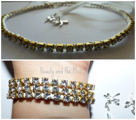 Beauty and the Mist - everything about beauty: DIY: Bridal Headband and Bracelet 2 in 1