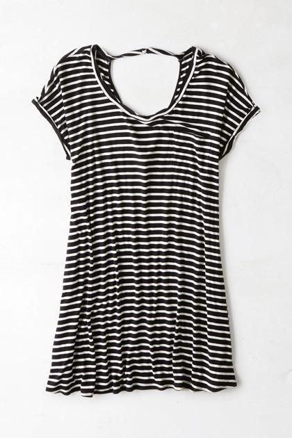 Affordable Summer Dresses | American Eagle Outfitters striped t-shirt dress