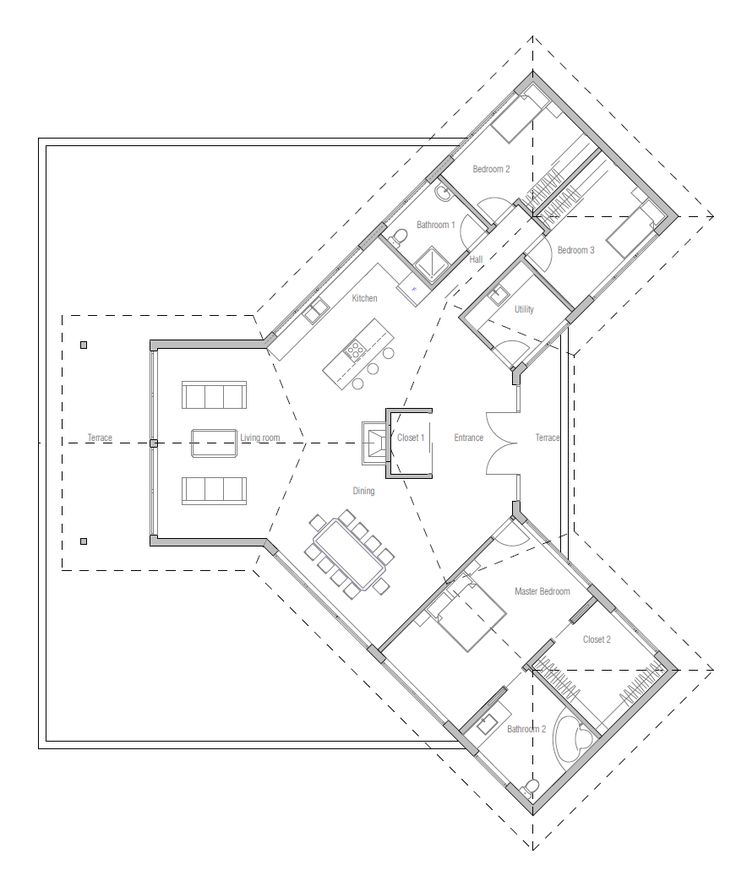 Like the footprint, needs a little tweaking on the layout, but not much.       modern-houses_10_house_plan_ch239.png