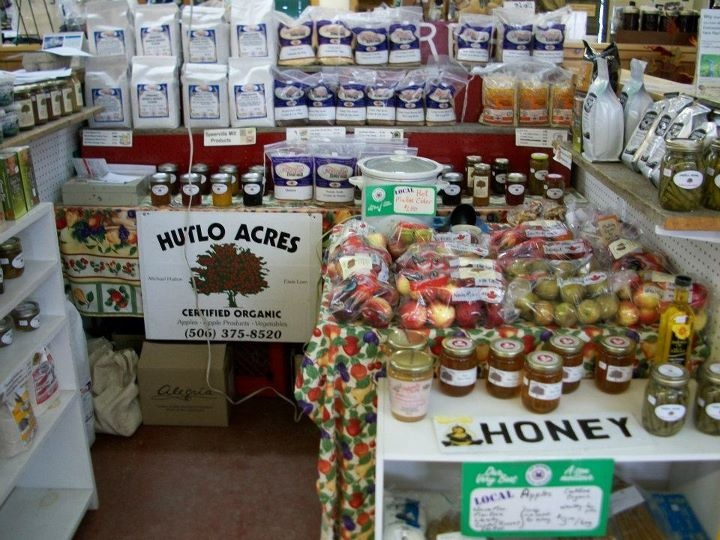 Hutlo Acres sells certified organic apples from their farm.  They also carry speerville mill products which are also local