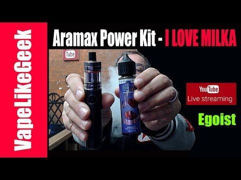 Aramax Power Kit 5000mAh 55W 2ml - I LOVE MILKA SNV Live review