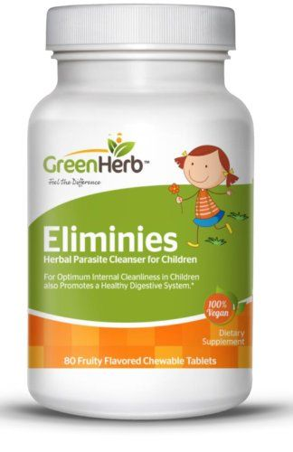 Eliminies - Complete Parasite Detox - Natural Herbal Cleanse - Formulated With Wormwood, Black Walnut Hull, Clove, Pau D'Arco, Garlic, Papaya, Carrot Juice Powder, Wood Betany, Butternut Bark, Pumpkin Seed and More to Gently and Effectively Cleanse Your Body of Parasites for kids!