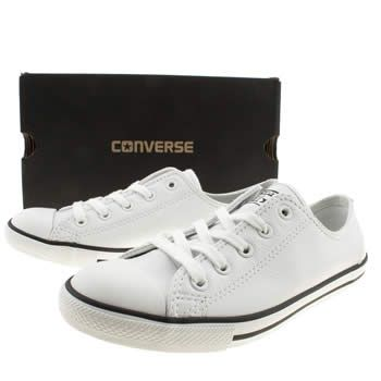 Women's White Converse All Star Dainty Leather Trainers | schuh