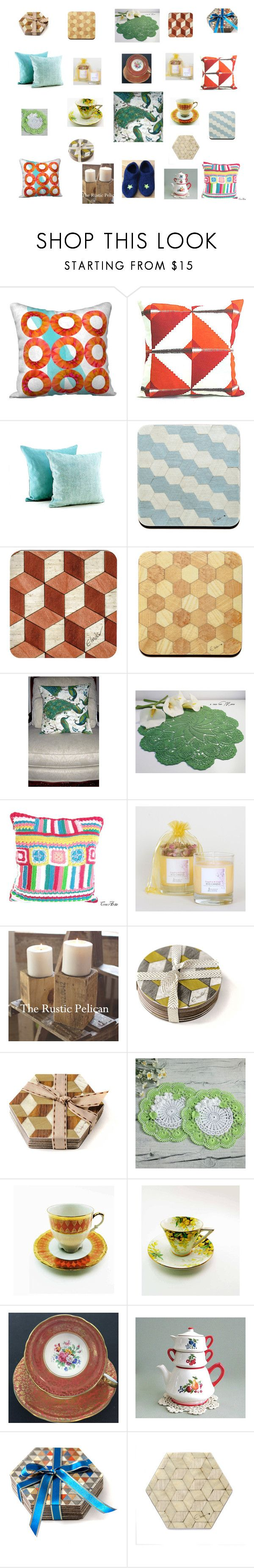 """Cushions Candles Cups & Coasters make a house a home"" by einder ❤ liked on Polyvore featuring interior, interiors, interior design, home, home decor, interior decorating, Aynsley and Dessous"