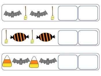 Halloween Patterns- AB, AAB, and ABC Patterns. $