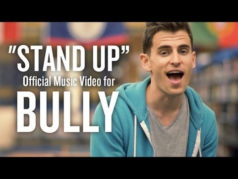Stand Up - Official Music Video for BULLY- Mike Tompkins This is a good anti-bullying video.