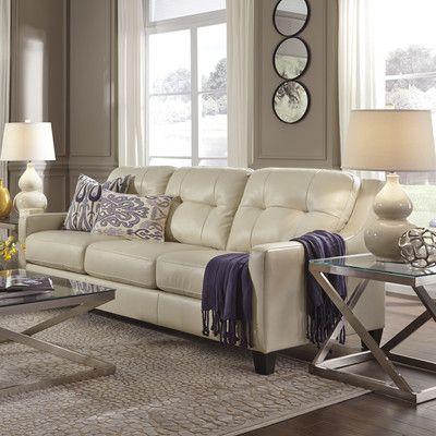 signature design by ashley okean leather sofa. beautiful ideas. Home Design Ideas