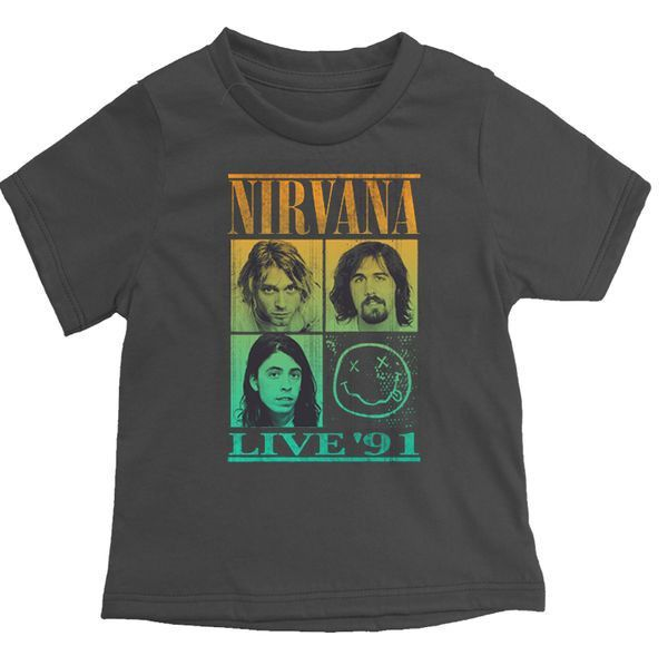 Nirvana Live '91 Rock Band T-Shirt by Rowdy Sprout. #boymom #boysclothes #boysstyle