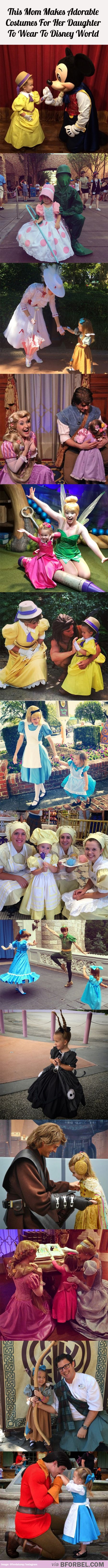 This Mom Made 14 Adorable Costumes For Her Daughter To Wear To Disney World…