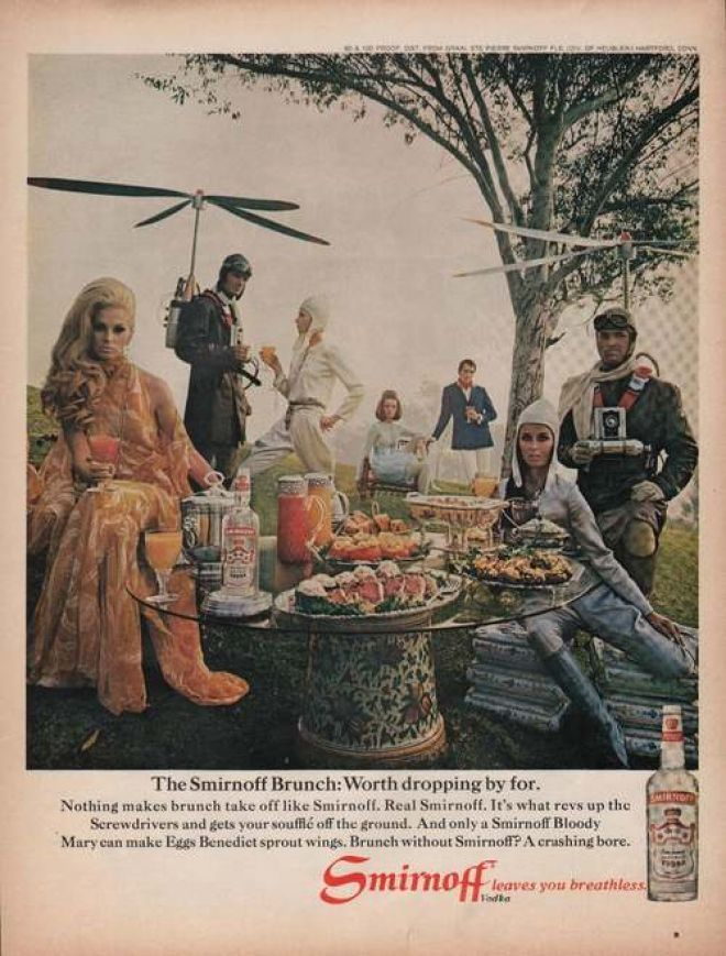 Smirnoff Vodka Leaves You Breathless (1969).  Smirnoff had some fabulous ads in sixties and seventies.