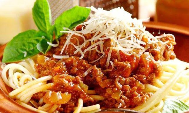 Spaghetti Bolognese Spageti Resep Masakan Masakan