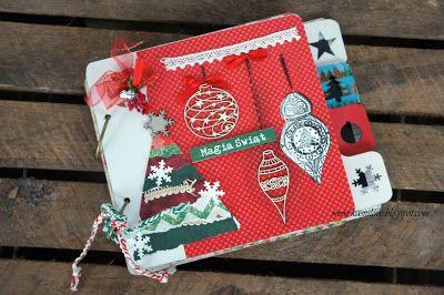 bożonarodzeniowy świąteczny album na zdjęcia scrapbooking / scrap photo album for christmas photos