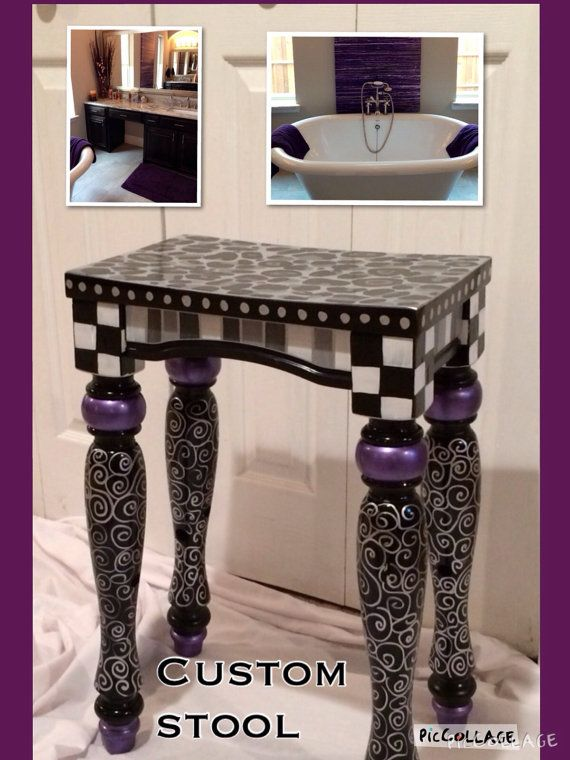 I KNEW this stool would look incredible all painted and pretty!    This customer was the first to take the plunge, and order this style stool,