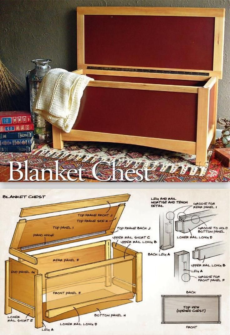 Make Blanket Chest - Furniture Plans and Projects | WoodArchivist.com