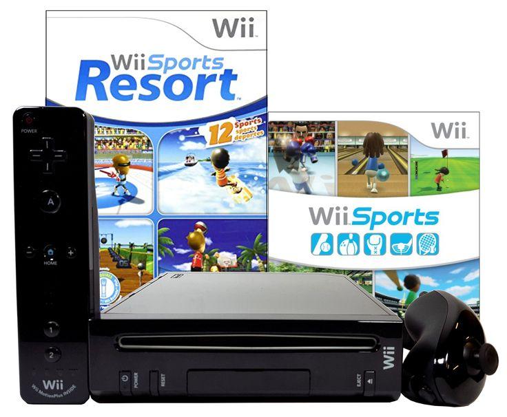 Nintendo Wii With Wii Sports + Wii Sports Resort Black
