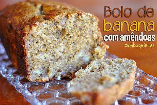 Nosso queridinho bolo de banana com amêndoas   Cumbuquinhas   Cookie e Brownie no Pote   Lembrancinhas personalizadas