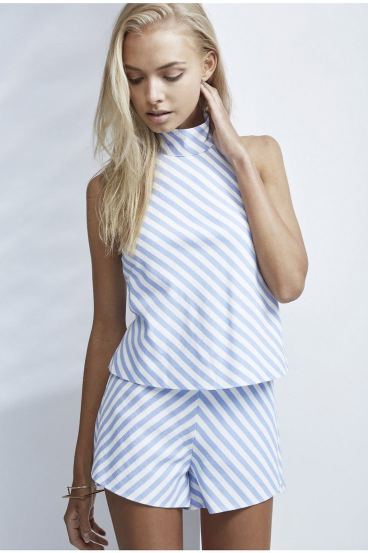 FINDERS KEEPERS Better Days Short - Chambray Stripe   #summerfashion #summerstyle #nautical #chambray #stripes #shorts #chic #brunchoutfit #summeroutfit #southbeachstyle