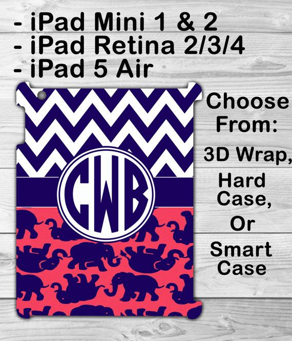 Monogram is ASK, want for I pad mini, pink smart case