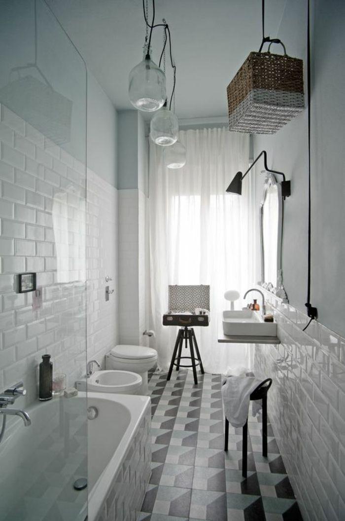 1001 Idees Pour Une Salle De Bain 6m2 Comment Realiser Une Deco De Reve Dans Un Espace Bain Tout Petit Salle De Bains En Long Salle De Bain