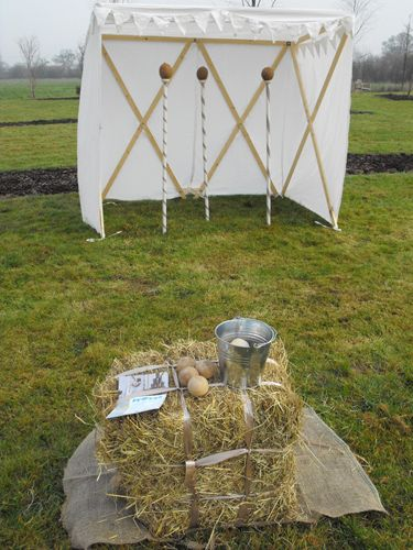 Box Clever Weddings - A fun coconut shy! Great outdoor wedding entertainment