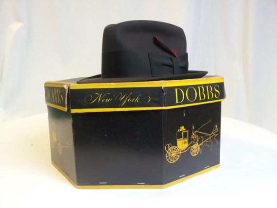 Vintage Dobbs Hat and Box by DocksideTrends on Etsy, $75.00