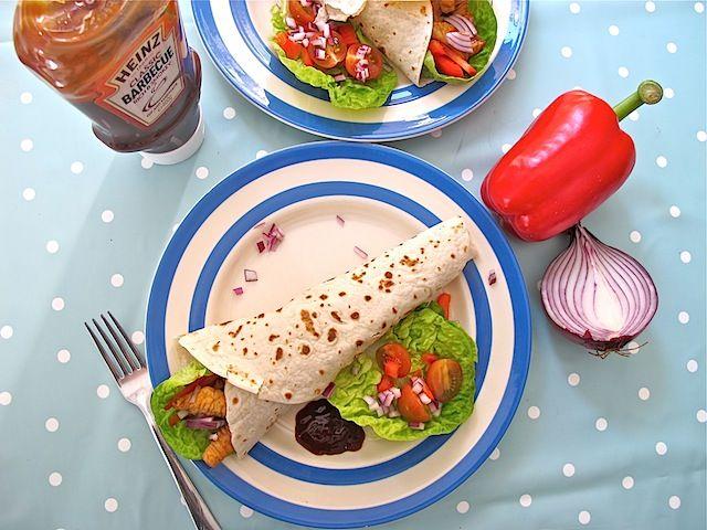 Turkey wraps Heinz barbecue sauce - 09