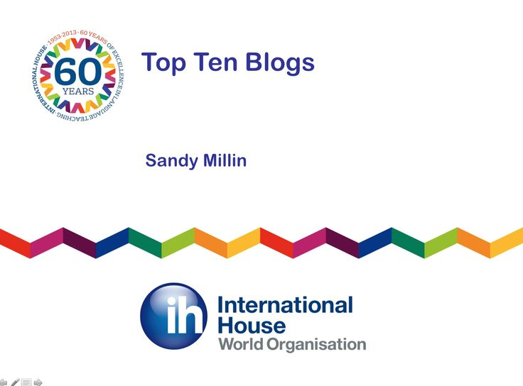 Top Ten Blogs - Sandy Millin