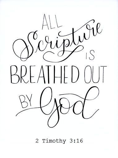 "Theopneustos: breathed out ""All Scripture is breathed out by God and profitable for teaching, for reproof, for correction, and for training in righteousness, that the man of God may be complete, equipped for every good work."" 2 Timothy‬ ‭3‬:‭16-17‬"