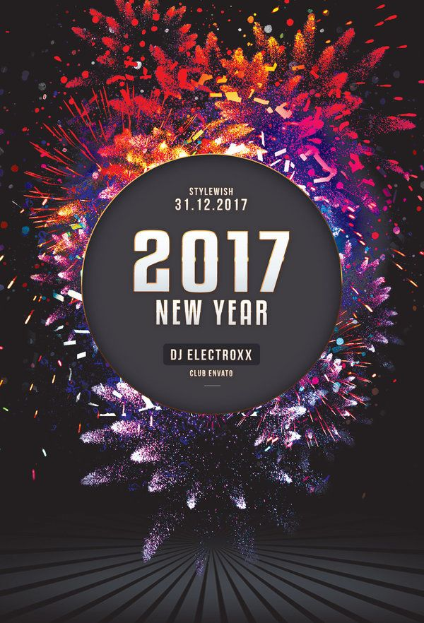 Best New Year Flyer Design Images On   Flyers Flyer