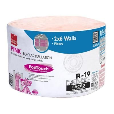 Owens Corning EcoTouch Kraft 6-1/4 in. x 15 in. x 39.2 ft. R-19 Continuous Roll Insulation-RF40 at The Home Depot