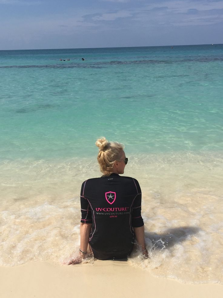 Fun in the Sun? We've got you covered gorgeous! #smartmeetssexy #upf50 #katesunshirt #sevenmilebeach #caymanisland #ocean #sunsafety