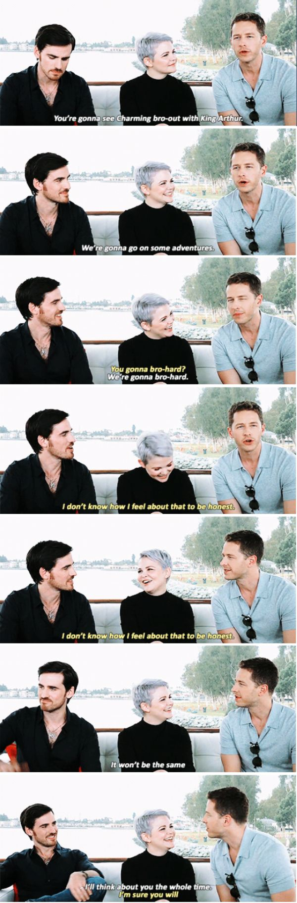 Once Upon a Time. Colin O'Donoghue and Josh Dallas on Hook and Prince Charming. #bromance