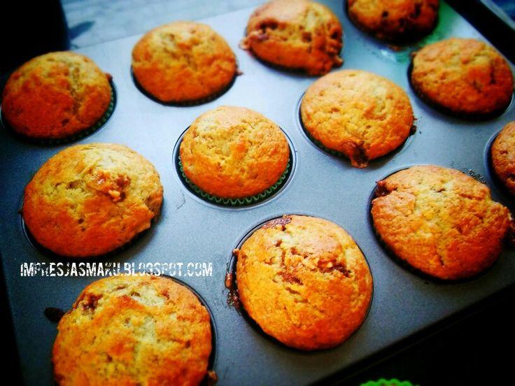 Muffinki bananowe ze snickersem