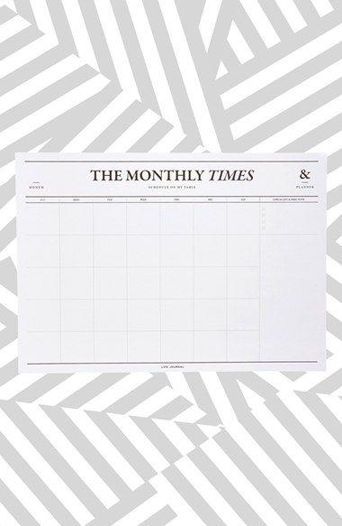 monthly desk calendar - poketo