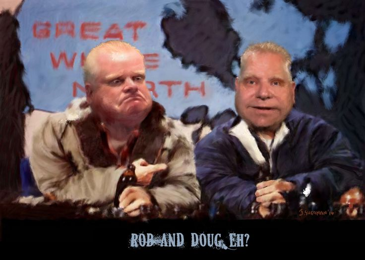 Rob and Doug- FORD, as the MacKenzie bros.!