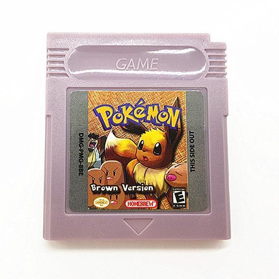 Pokemon BROWN VERSION Hack Homebrew Game Boy Color GBC English Play
