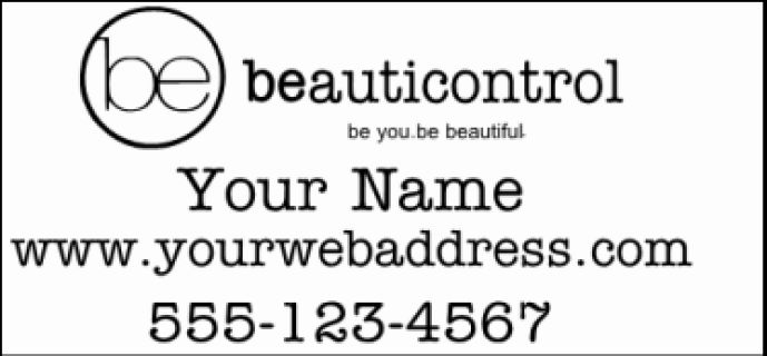 """Beauticontrol Decal 12x24""""  Standard Color  White.   For custom orders email us at melissa@imagineitvinyl.ca"""