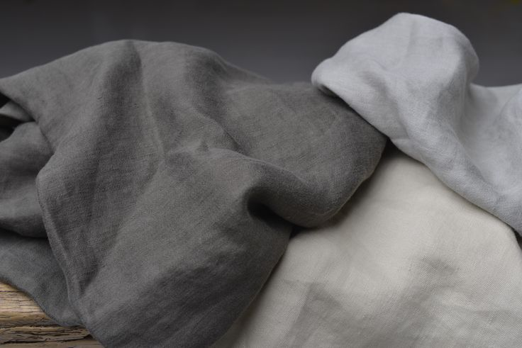 Alba from Astrid is a washed smooth linen in satin weave on double widht.