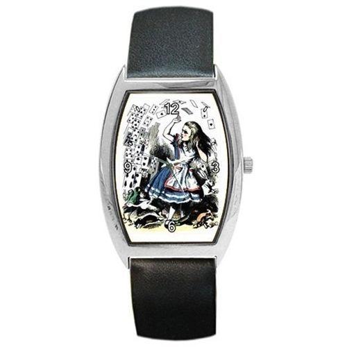 Alice In Wonderland Falling Cards Tinted Art Wrist Watch