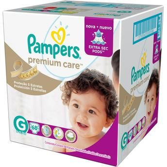 [Walmart] Pacote de Fraldas Pampers Premium Care Jumbo G - 68 unidades - R$ 69,90