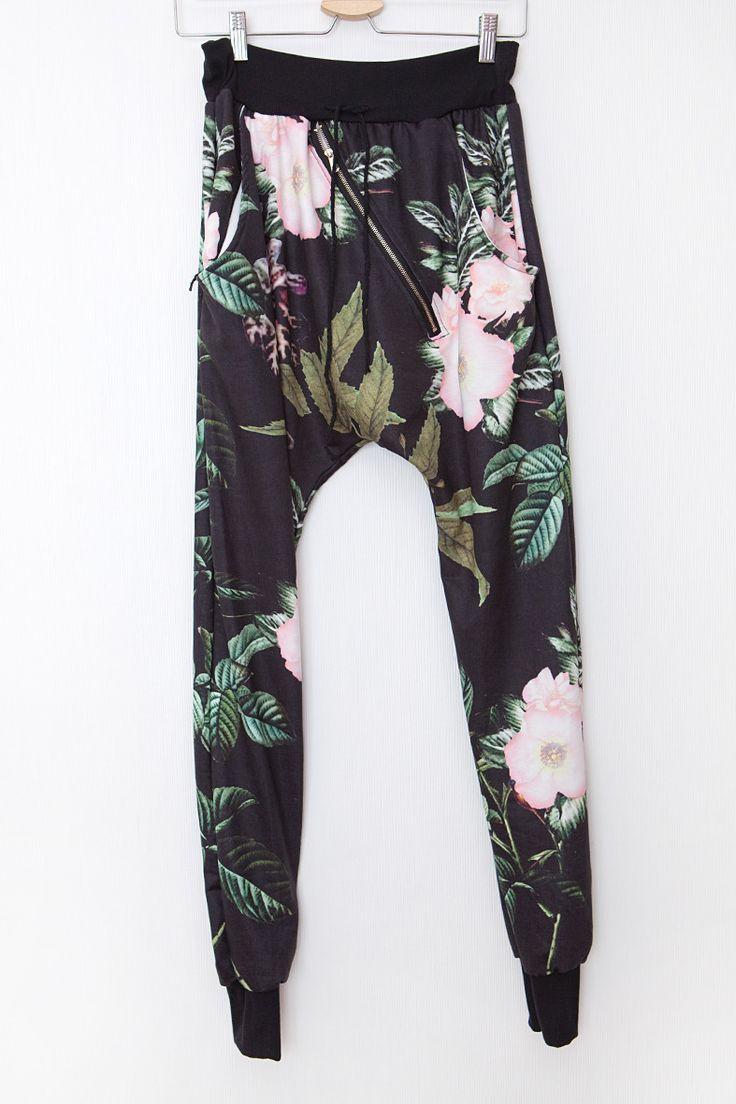 Byxor Grenhängare -Blommor