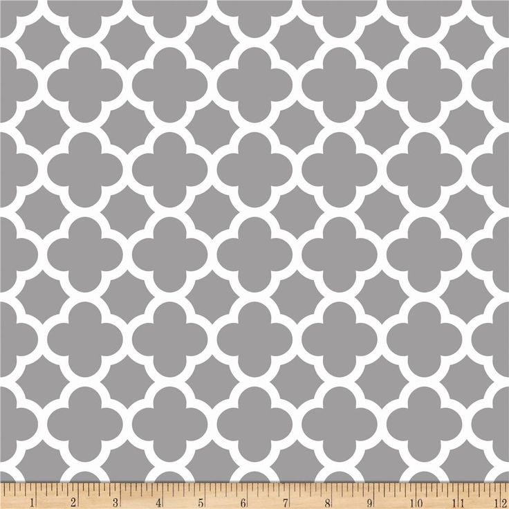 Riley Blake Quatrefoil Gray from @fabricdotcom  Designed by the RBD Designers for Riley Blake Designs, this cotton print is perfect for quilting, apparel and home decor accents. Colors include grey and white.