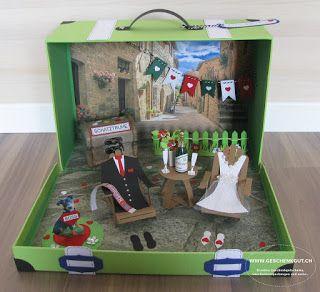 Flitterwochen Toscana Geschenkkoffer Geldgeschenk Hochzeit
