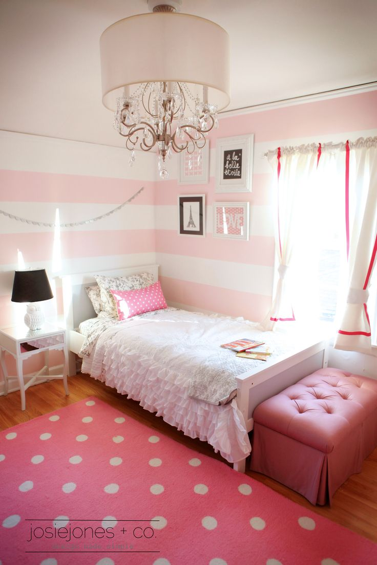 Girls Pink Room Angel Pinterest Polka dot rug