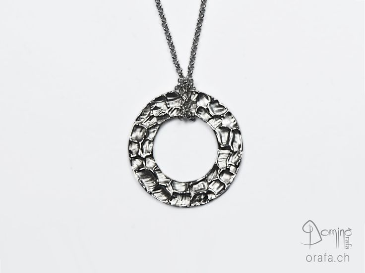 Circular pendant Gocce grandi finishing with necklace