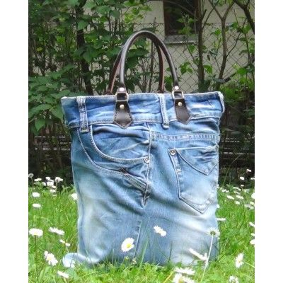 Jeans Top Handle Tote