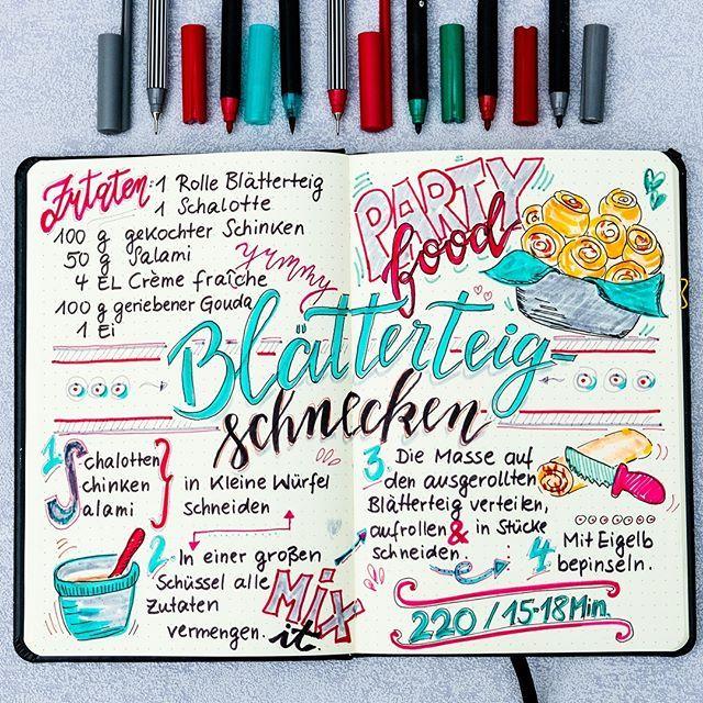 Schnelles Party Rezept: Blätterteigschnecken mit Schinken, Salami und Käse