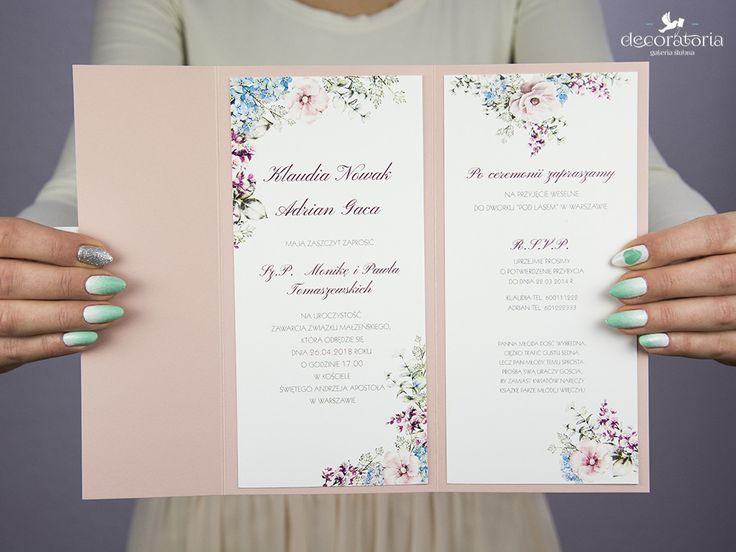 Blush pink wedding invitations Zaproszenia ślubne w kolorze pudrowego różu